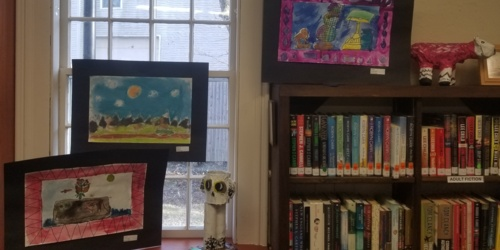 Children's Artwork back at the library! - March 2020